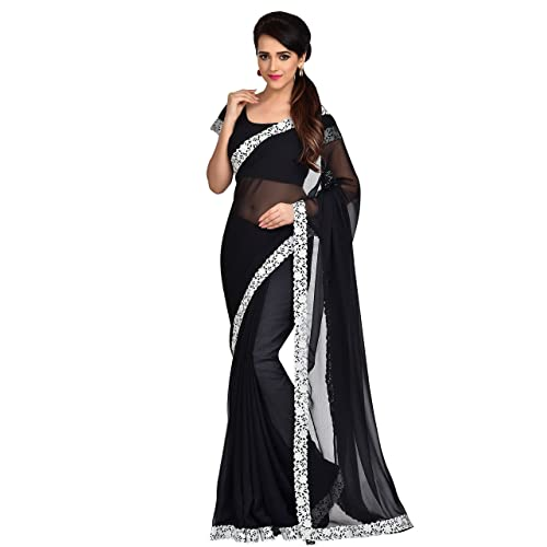 fd330e433b70c Shonaya Women`S Party Wear Georgette Printed Saree Sari