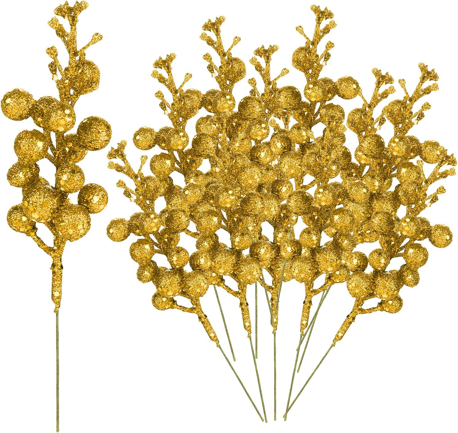 Babody 24 latest Pack Christmas Glitter Inch Berries 7.8 Stems 67% OFF of fixed price Artifici