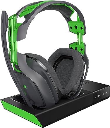ASTRO Gaming A50 Auriculares con Micrófono Inalámbricos y Estación Base Tercera Generación con Sonido Envolvente Dolby 7.1 , Compatibles con Xbox One, PC, Mac , Gris/Verde