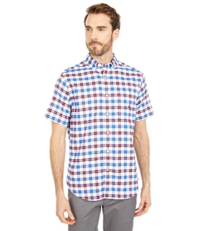 Nautica Classic Fit Plaid Oxford Shirt (Zinfandel) Men