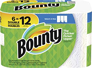 Bounty Select-a-Size Double Roll Paper Towels, White, 6 Count by Bounty