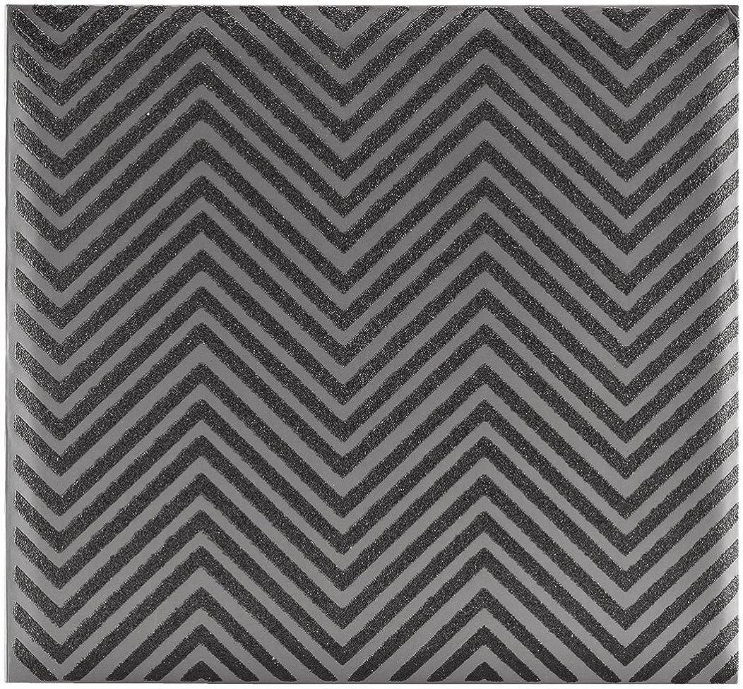 MCS MBI 13.5x12.5 Inch Chevron Black Glitter Scrapbook Album with 12x12 Inch Pages (860130)