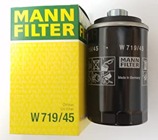 Mann-Filter W 719/45 Spin-on Oil Filter (Pack of 3)