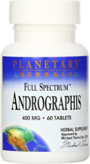 Planetary Herbals Full Spectrum Andrographis 400mg - Ayurvedic Herb - 60 Tablets