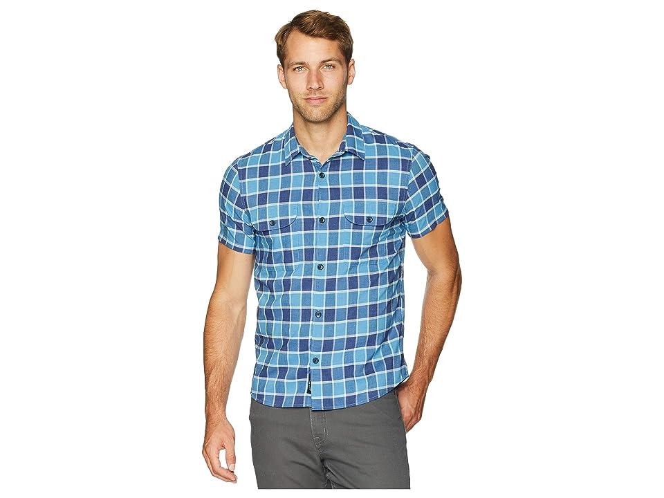 Lucky Brand Plaid Shop Shirt (Blue Multi) Men