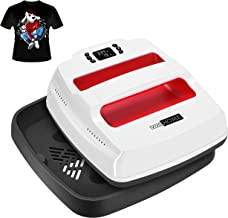 VIVOHOME 2 in 1 Digital Heat Press Machine Professional Multifunction Transfer Vinyl for T Shirts Printing and Ironing 9 x 9 Inch Red