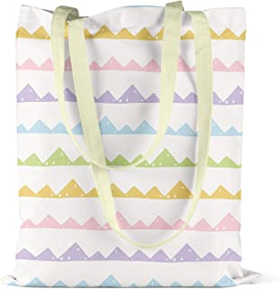 Bonamaison Printed Tote Bag, Reusable Grocery Bag, Shopping Bag, Machine Washable, Foldable, Canvas Cloth Bag with Handles, Size: 34x40 Cm