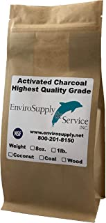 EnviroSupply 4mm Pellet Activated Carbon (Virgin Bituminous Coal), Premium Charcoal for Air Purification, Odor Control, Deodorizer, Vapor Phase Applications - Resealable 1 lb. Bag (455g)