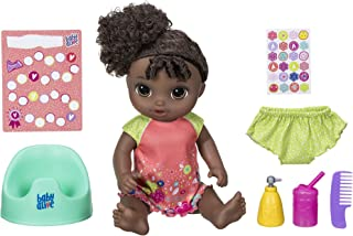 """Baby Alive Potty Dance Baby: Talking Baby Doll with Black Curly Hair, Potty, Rewards Chart, Undies and More, Doll That """"Pe..."""