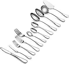 Artaste 56440 Rain 18/10 Stainless Steel 47-Piece Flatware Set, Service for 8, Silver