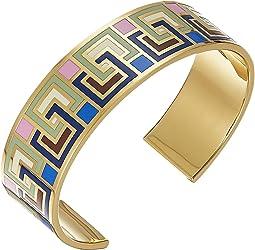 Picnic Box Enamel Cuff Bracelet