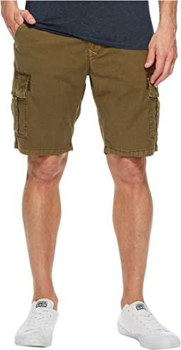 Stretch Sateen Cargo Shorts