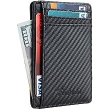 21ddc7d209 Travelambo Front Pocket Minimalist Leather Slim Wallet RFID Blocking Medium  Size