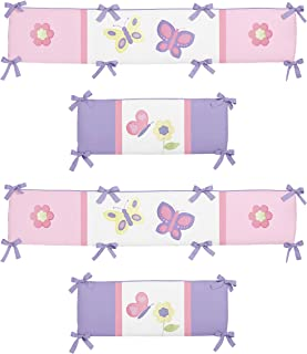 Sweet Jojo Designs Pink and Purple Butterfly Collection Crib Bumper