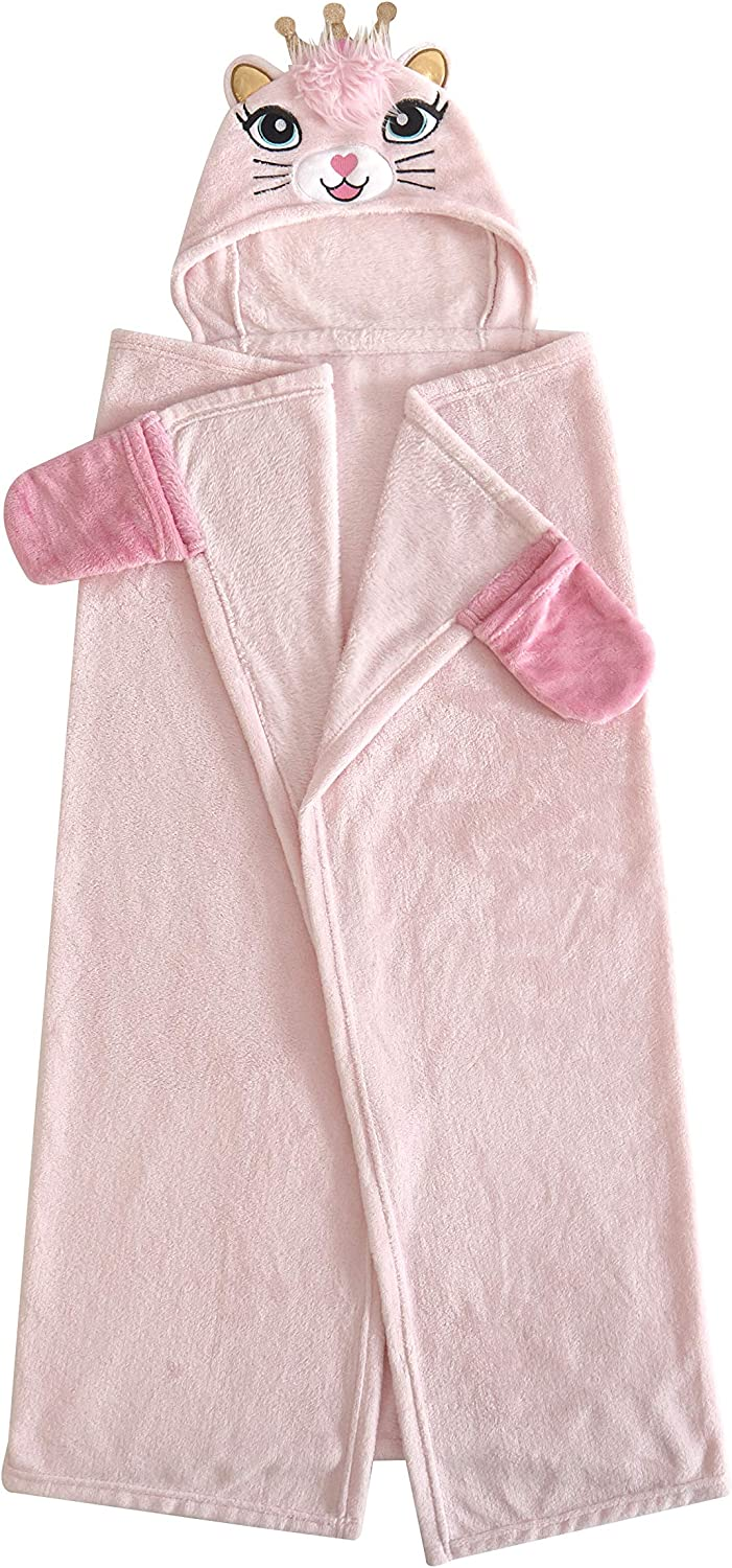 Heritage Kids Kitty Hooded Blanket Snuggle Phoenix Mall for Girls Max 67% OFF Soft Wrap
