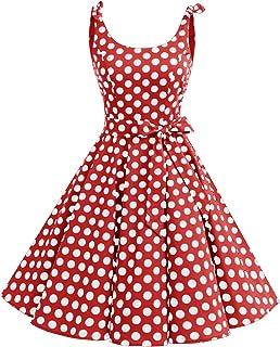 87e22b0160e5e Bbonlinedress 1950's Bowknot Vintage Retro Polka Dot Rockabilly Swing Dress