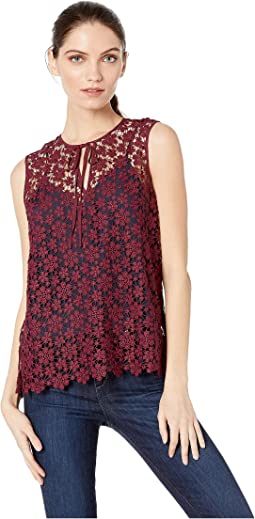 Lydia Guipure Lace Sleeveless Top