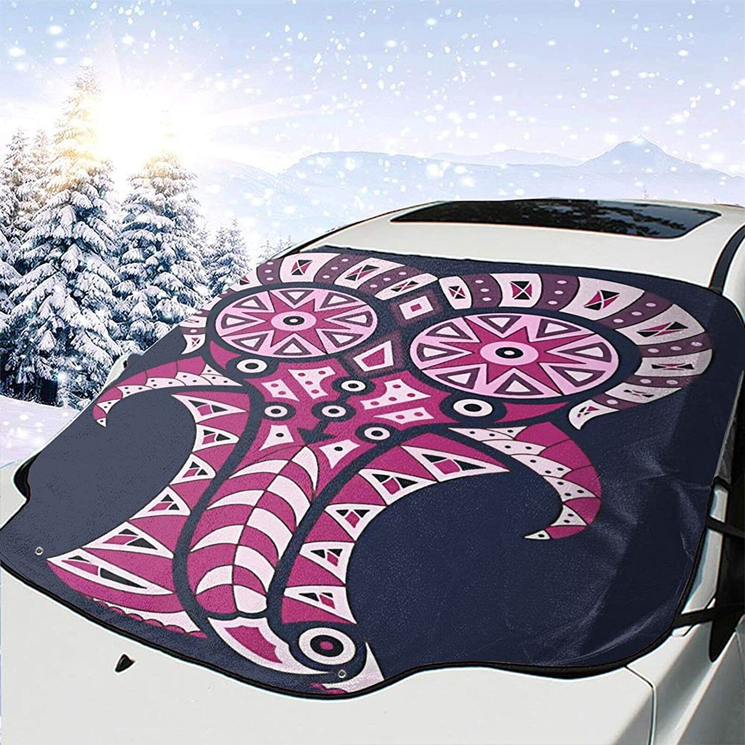 Car Front We OFFer at Phoenix Mall cheap prices Window Windshields Snow Cover Uv Gu Rays Draw Elephant