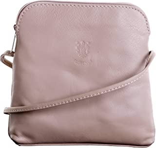 Genuine Italian Soft Napa Leather Hand Made Small Shoulder Bag Handbag. Includes Branded Protective Storage Bag.