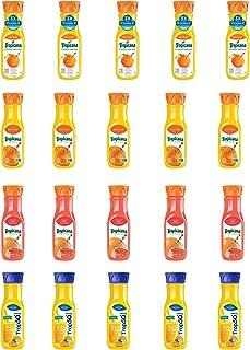 LUV BOX - Variety Tropicana Pure Premium Juice Pack 12oz Plastic Bottle, 20 pk, Orange Juice No Pulp Vitamin C & Zinc, Red Grapefruit,Trop 50 Orange Juice with Calcium,Tropicana Pure Premium Original