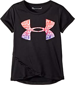 Under Armour Kids - Big Logo Cross Over Short Sleeve Tee (Little Kids)