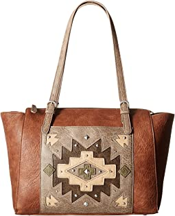 American West - Earth Bound Zip Top Tote
