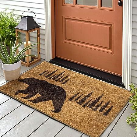 Dii Indoor Outdoor Natural Coir Easy Clean Rubber Back Entry Way Doormat For Patio Front Weather Exterior Doors 18x30 Bear Country Industrial Scientific