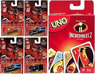 Pin & Family Super Heroes Hypnotize Card Game Incredibles Disney Mini Cars & Collectable Set Pixar Uno Mr. Incredible / In...