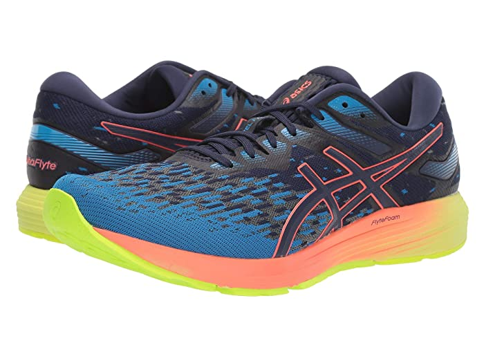 ASICS  Dynaflyte 4 (Peacoat/Flash Coral) Mens Running Shoes
