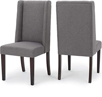 Christopher Knight Home Rory Fabric Dining Chairs, 2-Pcs Set, Dark Grey
