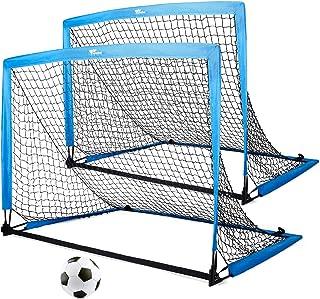 amzdeal Portable Soccer Goal Soccer Nets for Backyard...