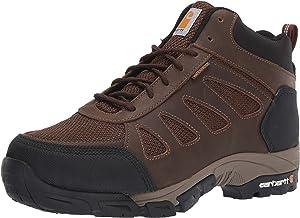 Carhartt Bota industrial masculina leve Wtrprf de cano médio para caminhada, bico macio Cmh4180