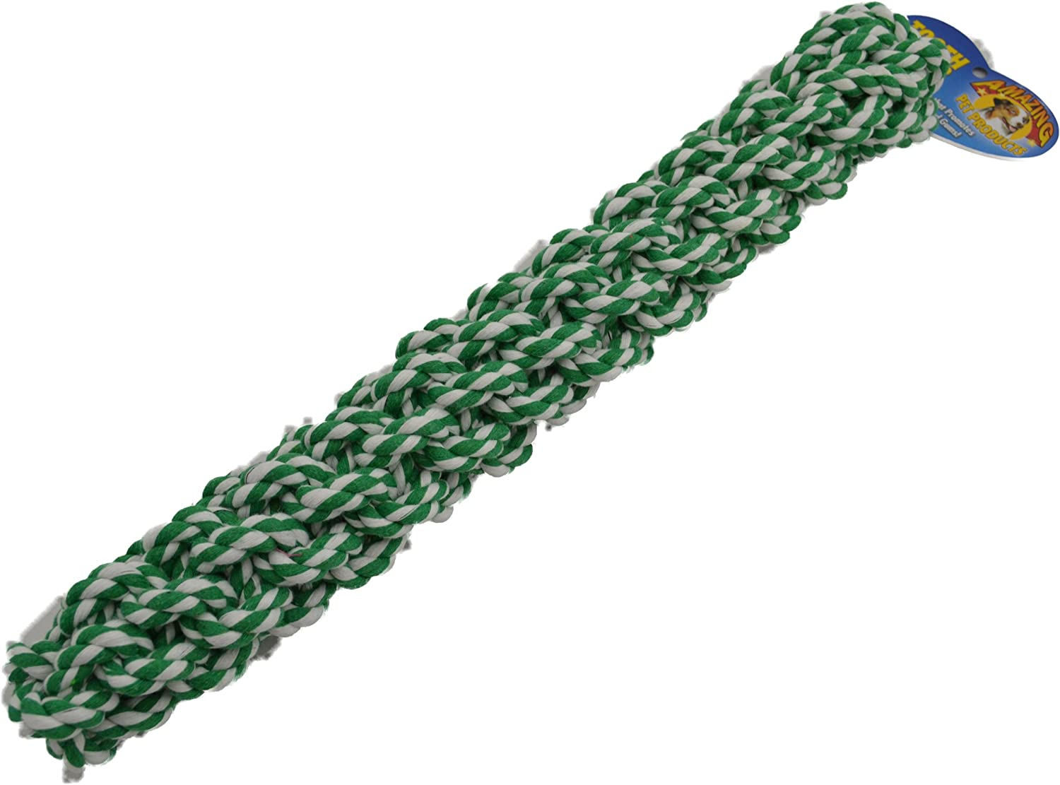 Amazing Pet Products Retriever Rope Dog Toy, 16Inch, Green