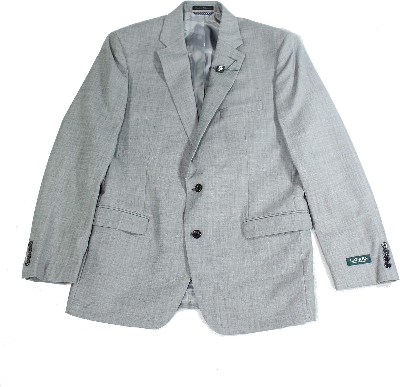Lauren by Ralph Lauren Mens Suit Jacket Long UltraFlex Gray 42
