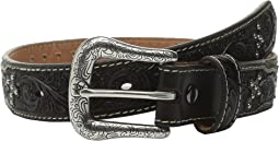 Tooled Tab Studded Belt (Little Kids/Big Kids)
