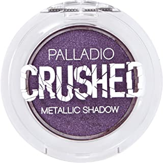Palladio Crushed Metallic Eyeshadow, Nebula, Pressed Pigments for Highly Reflective Foil Finish, Cream Eyeshadow w/No Crea...
