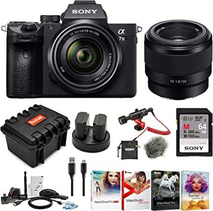 $2348 Get Sony a7 III Full Frame Mirrorless Interchangeable Lens Camera w/ 28-70mm & FE 50mm f/1.8 Two Lens Kit