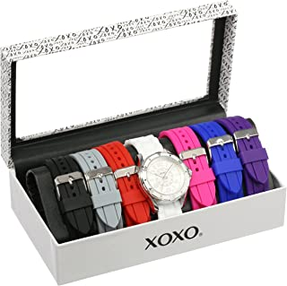 women's watch with changeable straps & bezels
