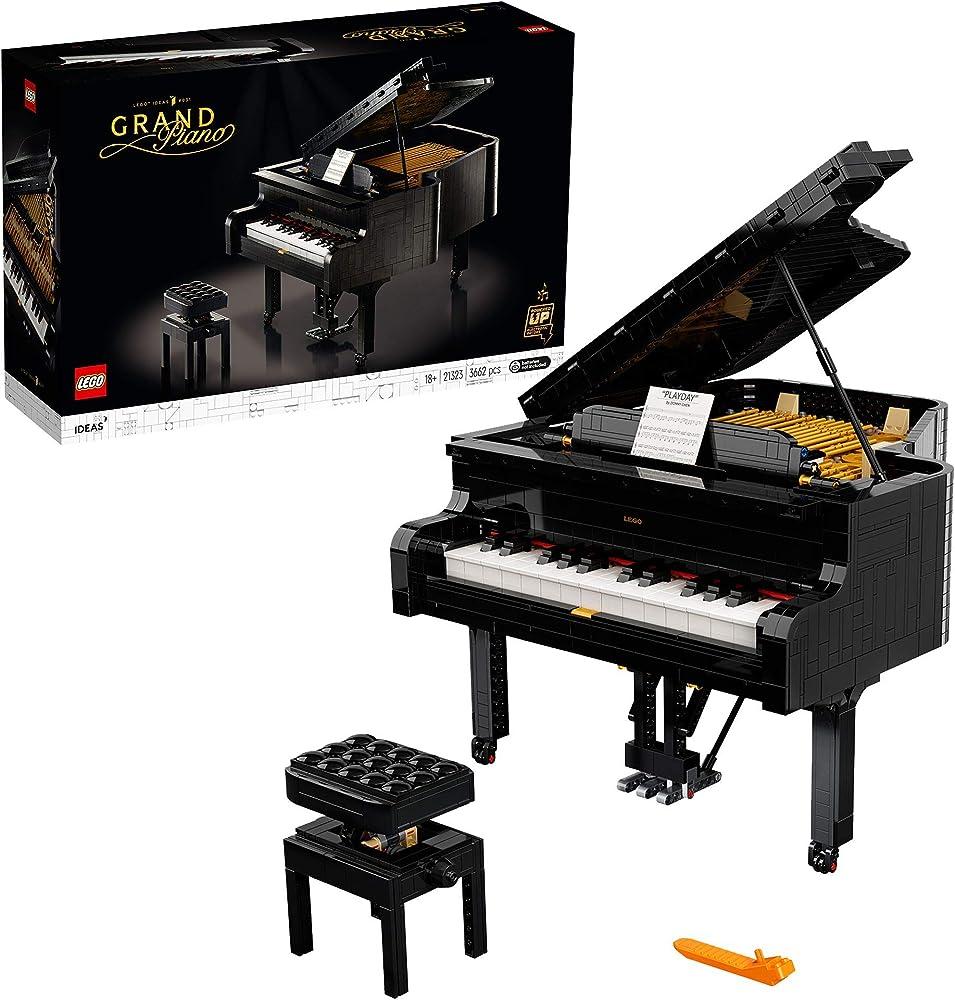Lego, ideas pianoforte a coda motorizzato, con power functions technic,con tastiera apribile 21323