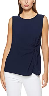 French Connection Women's Knot Front Sleeveless TEE