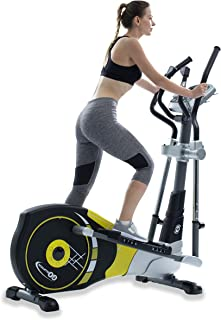 """GOELLIPTICAL V-450X Standard Stride 18"""" Programmable Elliptical Exercise Cross Trainer with Adjustable Arms and Pedals and HRC Control Program for Cardio Fitness Strength Conditioning Workout"""