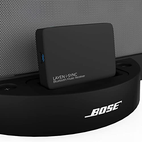 LAYEN i-SYNC Bluetooth Receiver 30 pin Adapter - Audio Dongle for Bose SoundDock and Other Hi-Fi, Stereo and 30 pin D...