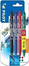Pilot Frixion, inchiostro Gel, confezione da 3 + 1 in omaggio, con penna a sfera a punta media, Colori Assortiti
