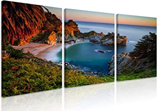 Natural art Bay Landscape Photos for Office Cafe Living Room Wall Decoration Tropical Islands Scenery Modern Home Decor Canvas Art Framed 18x24 Inch 3 Panels