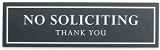 Kubik Letters No Soliciting Sign for House - Modern Design Door Sign 5 mm (200 mil) Thick Acrylic Size 2.35