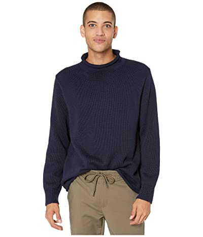 J.Crew Unisex 1988 Cotton Rollneck Sweater (Navy) Men