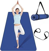 CAMBIVO Extra brede yogamat, TPE milieuvriendelijk (183 x 80 x 0,6 cm), antislip fitnessmat, lichtgewicht reisyogamat voor...