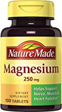 Nature Made Magnesium 250 mg Tablets, 100 Count for Nutrition Support (Packaging May Vary)