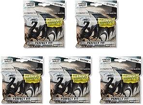 5 Packs Dragon Shield Inner Sleeve Sideloader Smoke Standard Size 100 ct Card Sleeves Value Bundle!
