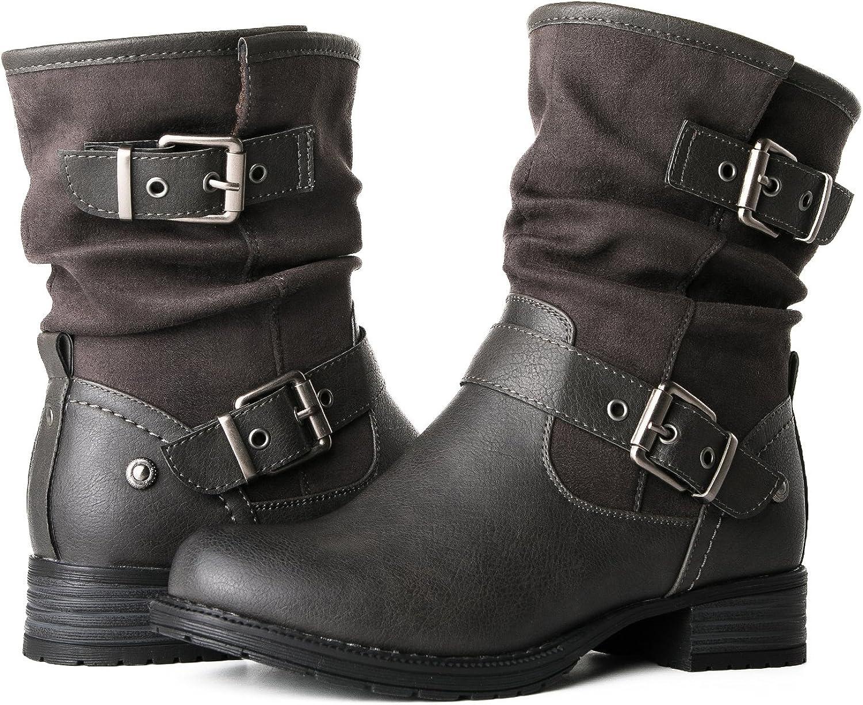 GLOBALWIN Women's 17YY12 Grey Fashion Boots 6.5M